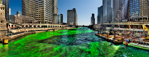 Green Chicago River Saint Patrick